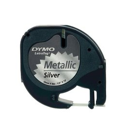 Dymo Dymo LetraTAG tape 12 mm, metallic zilver