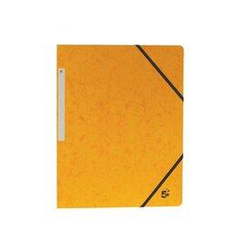 5 Star 5 Star elastomap 3 kleppen geel, pak van 10 stuks