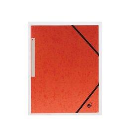 5 Star 5 Star elastomap 3 kleppen oranje, pak van 10 stuks