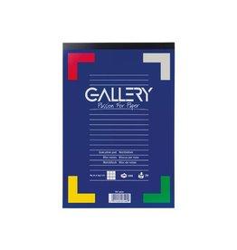Gallery Gallery schrijfblok, ft A4, geruit 5 mm, blok van 100 vel