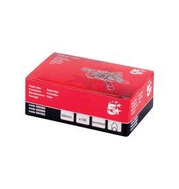 5 Star 5 Star papierklemmen 32 mm gepunt, doos van 100 stuks