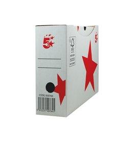 5 Star 5 Star archiefdoos 25x33x10 cm, wit [10st]