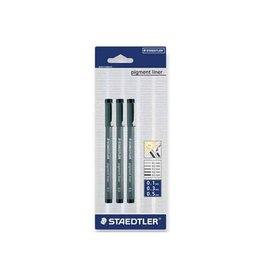 Staedtler Staedtler fineliner Pigment Liner 3st: 0,1; 0,3 en 0,5mm