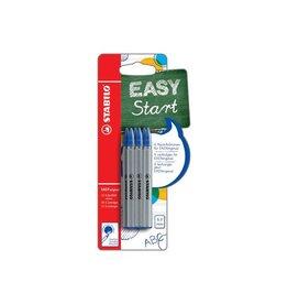 Stabilo Stabilo vulling Easy Orginal, fijn, blauw, blister met 6st