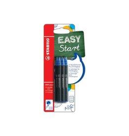 Stabilo Stabilo vulling EasyOrginal, medium, blauw, blister met 6st