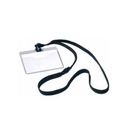 Durable Durable badge met textielband zwart, 10 stuks