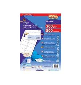 Decadry Decadry visitekaarten MicroLine 85x54mm 200g/m² 500 kaartjes