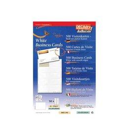 Decadry Decadry visitekaarten TopLine 500 kaartjes, rechte hoeken