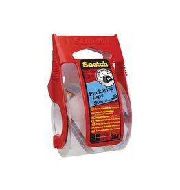 Scotch Scotch afroller met verpakkingsplakband, 50 mm x20 m, transp