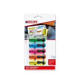 Edding Edding mini markeerstift 7, blister met 5st assorti [10st]