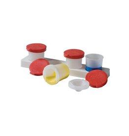 Creall Antiknoeipot voor verf set 4 potjes 320 ml met rood deksel