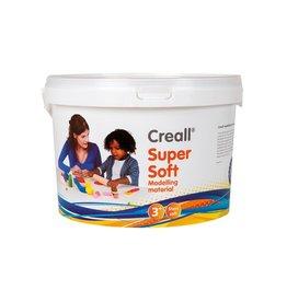 Creall Havo boetseerpasta Supersoft 5 : rd. gr. gl. wit en bl.