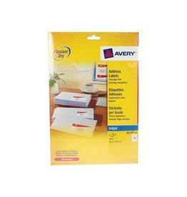 Avery Avery Witte etik. QuickDry 10 bl, 63,5x33,9 mm 240st, 24/bl