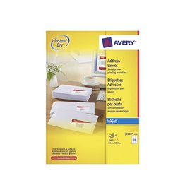 Avery Avery witte etiketten QuickDry 63,5x33,9mm 2.400st 24/blad
