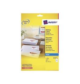 Avery Avery J8160-10 adresetiketten 63,5x38,1mm 210 etiketten wit