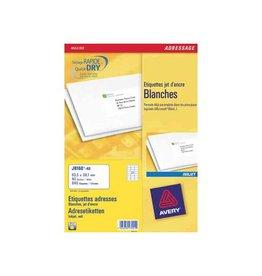 Avery Avery J8160-40 adresetiketten 63,5x38,1mm 840 etiketten wit