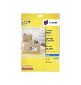 Avery Avery Witte etik. QuickDry 10bl, 99,1x67,7mm 80st, 8/bl