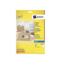 Avery Avery J8167-10 adresetiketten 199,6x289,1mm 10 etiketten wit