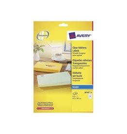 Avery Avery J8560-25 adresetik. 63,5x38,1mm 525 etik. transp.
