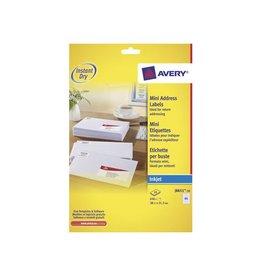 Avery Avery witte etiketten QuickDry 38 1x21, 2mm 650st, 65 per bl