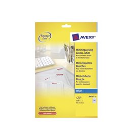 Avery Avery J8656-25 mini etiketten 46x11,1mm 2100 etiketten wit