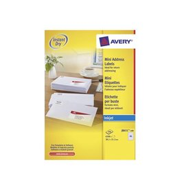 Avery Avery witte etik. QuickDry 38,1x21,2 mm 6.500st, 65 per bl