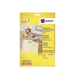 Avery Zweckform Avery L4737REV-25 afneembare etik. 63,5x29,6mm 675 etik. wit