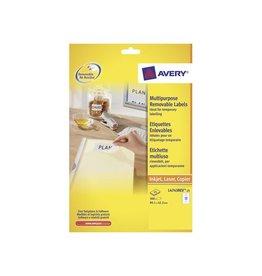 Avery Zweckform Avery L4743REV-25 afneembare etik. 99,1x42,5mm 300 etik. wit
