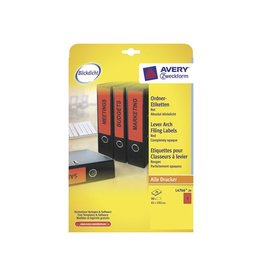 Avery AVERY Printbare rugetik. BlockOut 19,2x6,1cm 20bl 80st rood