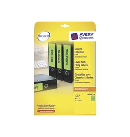 Avery AVERY Printbare rugetik. Block Out 19,2x6,1cm, 20 bl, 80st