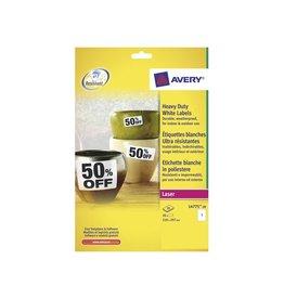 Avery Zweckform Avery Ultra-sterke witte etiketten 210x297mm, 20st, 1 per bl