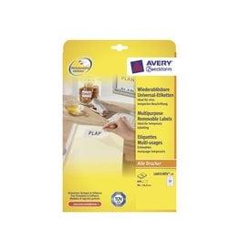 Avery Zweckform Avery afneembare witte etiketten Stick & Lift