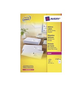 Avery Avery L7160 Adresetik. Laser wit 100vel. 21 /vel 63,5x38,1mm