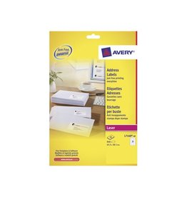 Avery Avery L7160 Adresetik. Laser wit 40vel. 21 /vel 63,5x38,1mm
