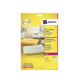 Avery Avery L7560-25 adresetik. 63,5x38,1mm 525 etik. transp.