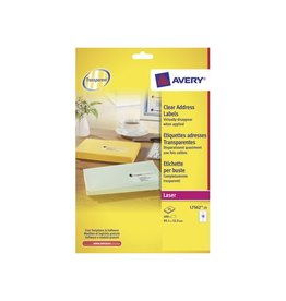 Avery Avery transp.e etiketten QuickPEEL 99,1x33,9mm 400st 16/blad