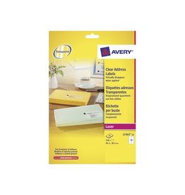Avery Avery transp.e etiketten QuickPEEL 99,1x38,1mm 350st 14/blad
