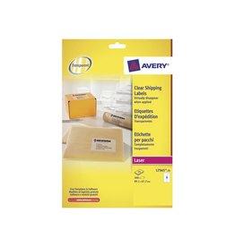 Avery Avery L7565-25 verzendetik. 99,1x67,7mm 200 etik. transp.