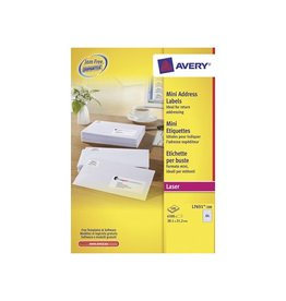 Avery Avery witte l.etik. QuickPeel 100bl 38,1x21,2mm 6500st 65/bl