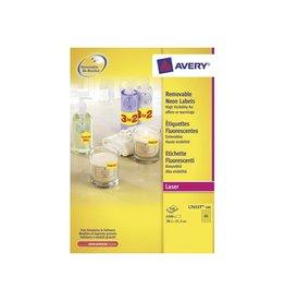 Avery Zweckform Avery Afneembare neon etik. 38,1x21,2mm 100bl 6.500st gl.