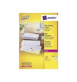 Avery Avery Witte laseretik. QuickPeel 45,7x25,4 mm 4.000st, 100bl