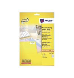 Avery Avery mini-etik. 46x11,1 mm 2100st, 84 per bl, 25 bl