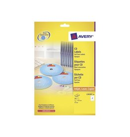 Avery Avery L7676-25 CD etiketten, 117mm, 50 etiketten, wit