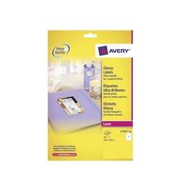 Avery Avery Etiketten hoogglanzend 210x297mm doos 40 blad 40st