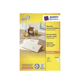 Avery Zweckform Avery Witte gerecycleerde univer. etik 105x48mm 1200st 12/bl