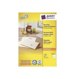 Avery Zweckform Avery Witte gerecycleerde universele etiketten
