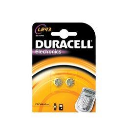 Duracell Duracell knoopcel Electronics LR43, blister van 2 stuks