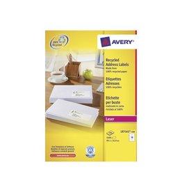 Avery Avery gerecycleerde witte laseretik 99,1x33,9mm 1600st 16/bl