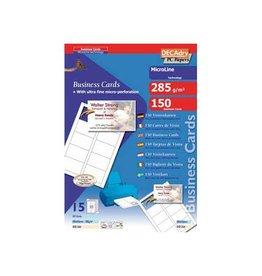 Decadry Decadry visitekaarten MicroLine 85x54mm 285g/m² 150 kaartjes