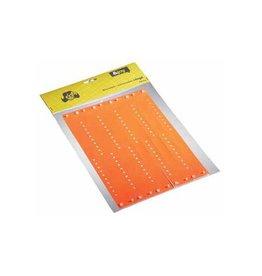 Merkloos Orakel polsbandje Vinyl, oranje, pak van 100 stuks